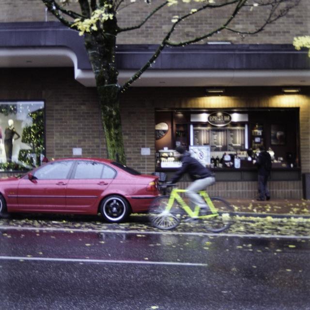 still biking in the rain