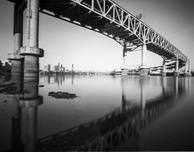 reflecting the Marquam with my Harman Titan pinhole