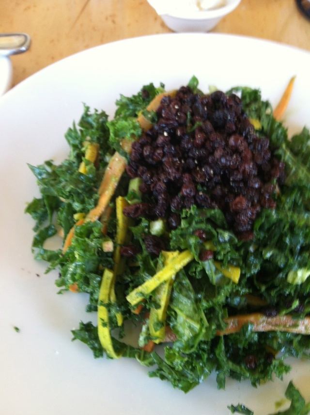 kale, carrot, nappa cabbage and currant salad