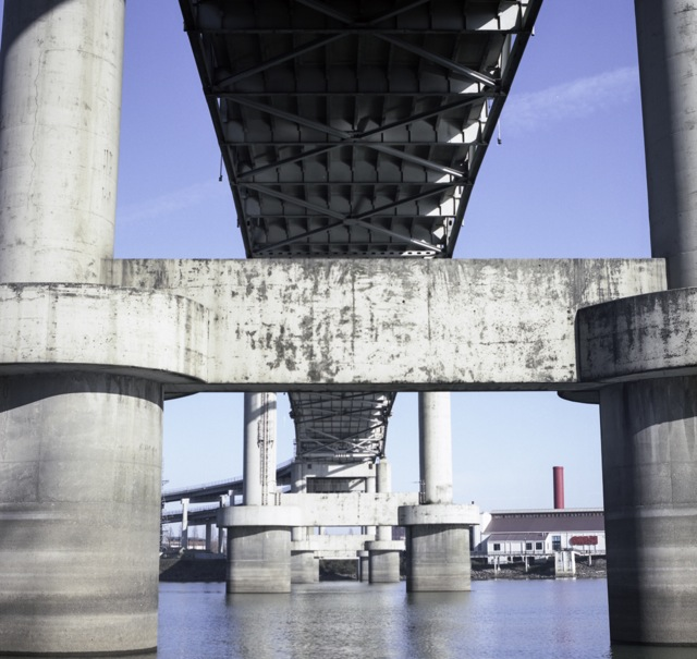under the Marquam Bridge_Hasselblad