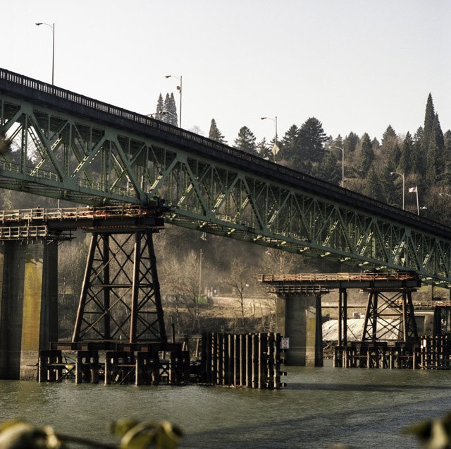 The Sellwood Bridge on its new perch_Hasselblad