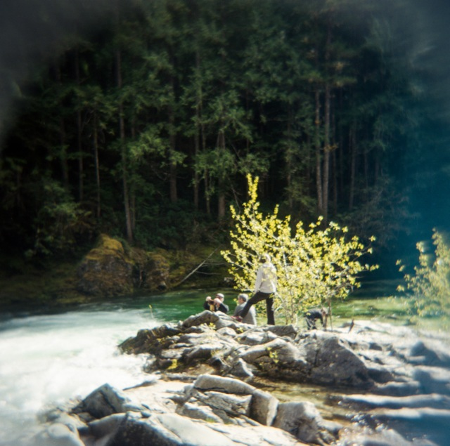 throwing in a Holga image