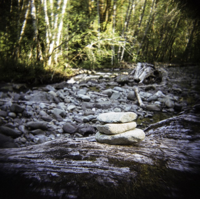stacking rocks_Holga