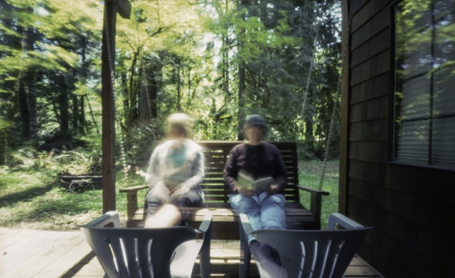 a book, the sun, a swing and friends_pinhole_ 2 minutes