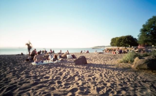 enjoying the beach in Ballard