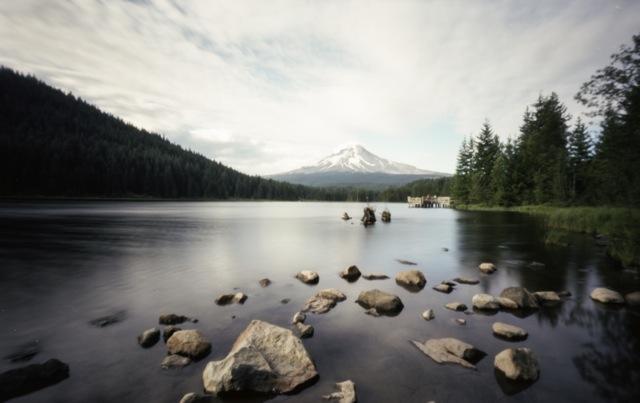 rocks lead to Mt Hood