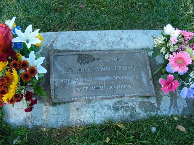 my Mom's grave