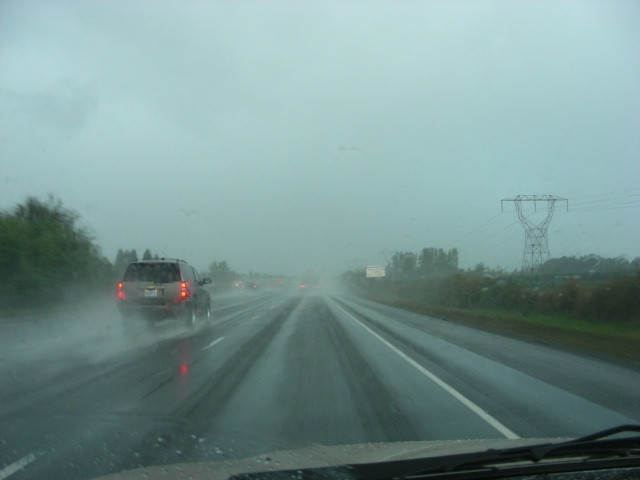 driving south in the rain