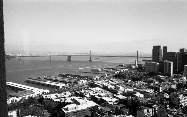 the old ferry terminals and Bay Bridge