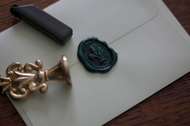 sealing the envelope with wax