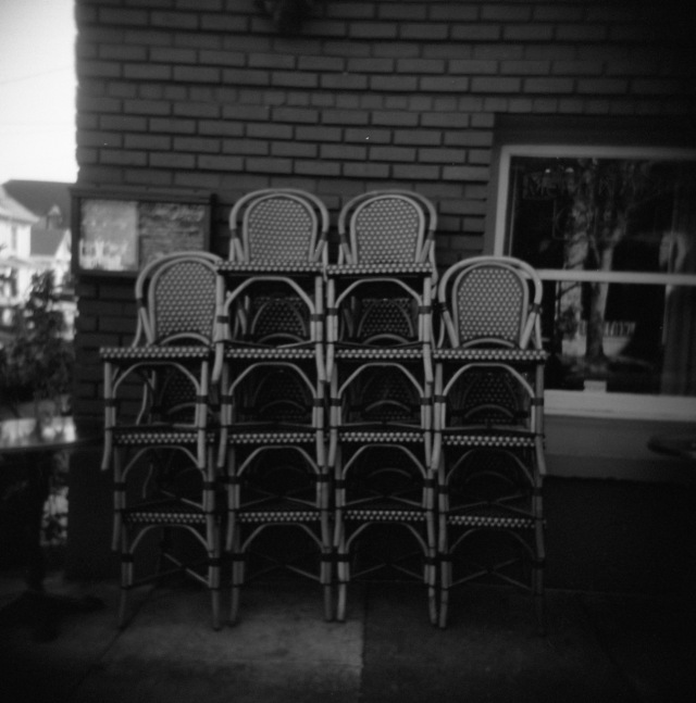 empty chairs on NW 23rd
