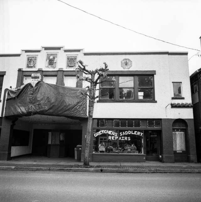 Gretchen's Saddlery Shop and old movie theater