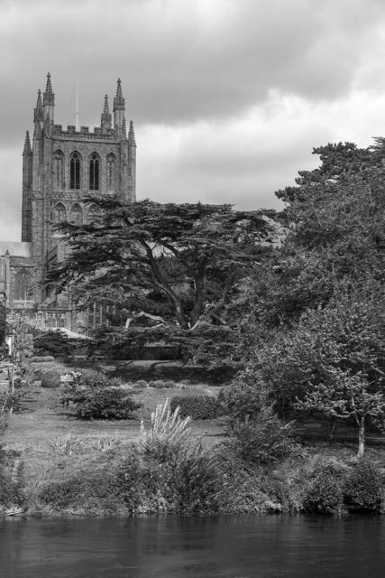 Hereford Cathedral on River Wye